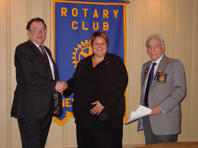 Rotary welcomes Bruno and Stein